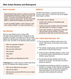 performance improvement plan sample after action review example pdf