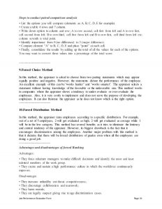 performance review form hospitality supervisor performance appraisal