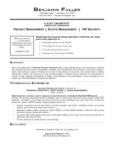 personal assistant resume celebrity personal assistant resume by mia c coleman