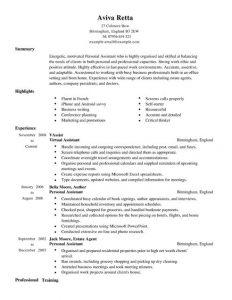 personal assistant resume personal assistant resume full