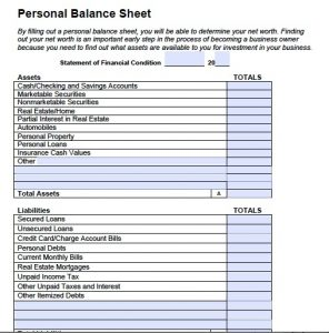 personal balance sheet best photos of balance sheet template pdf simple balance sheet personal balance sheet template