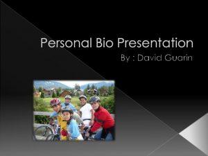 personal biography template personal bio presentation