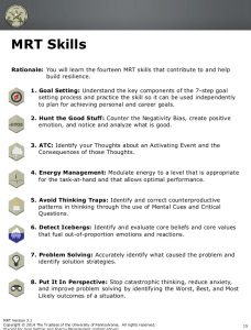 personal develop plan examples handout for resiliency training vtt