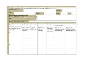 personal development plans examples ippd for teachers