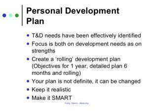 personal development plans examples personal development plan mentoring