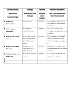 personal development plans examples personal leadership plan