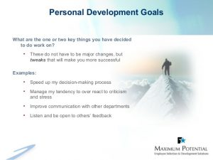 personal goals examples personal development ppt