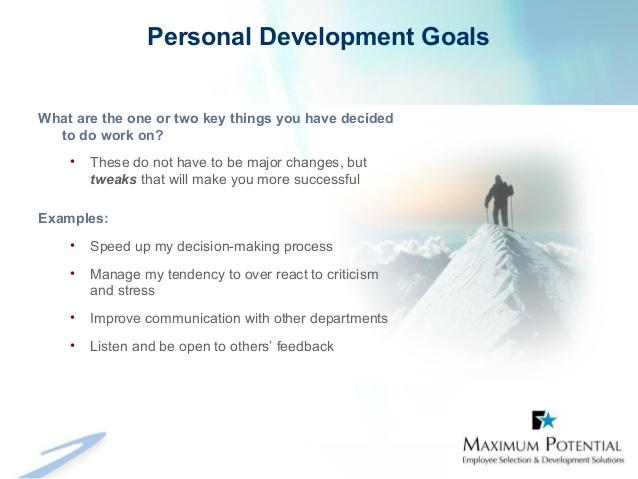 personal goals examples