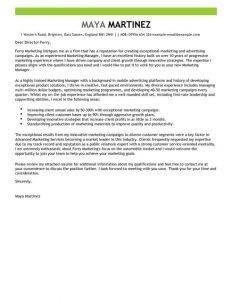 personal letter templates marketing manager cover letter full