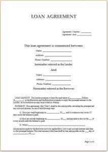 personal loan agreement pdf personal loan agreement template for doc