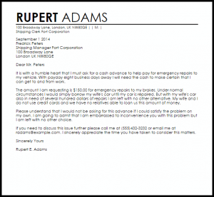 personal loan agreement templates cash advance letter format