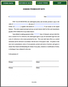 personal loan agreement templates demand promissory note