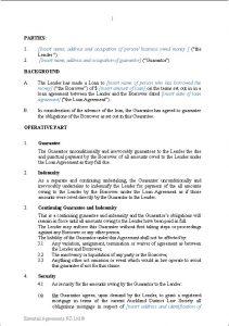 personal loan agreement templates guarantee of loan secured