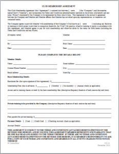 personal loan agreement templates sample membership contract agreement template