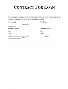 personal loan contract doc simple loan contract simple interest loan agreement