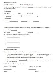 personal loan contract tenancy contract template image