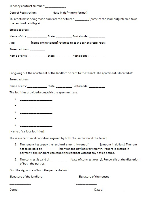 personal loan contract