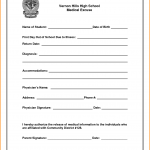 personal mission statements templates medical excuse letter