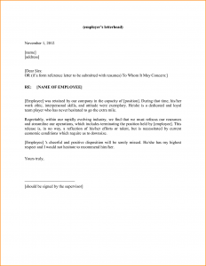 personal reference letter template generic letters of recommendation