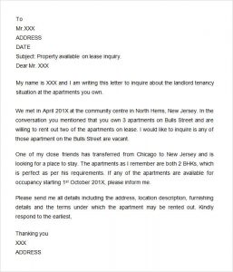 personal reference letter template word letter of inquiry sample