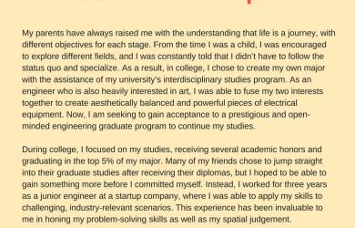 personal statement for graduate school examples accurate graduate school personal statement example