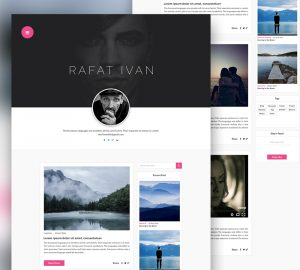 personal website template personal blog website template free psd