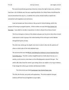 persuasive essays examples anti gun control paper josh hughes