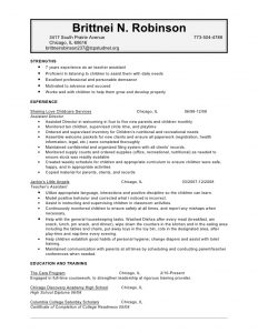 phlebotomy resume sample robinson brittnei childcare resume