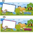 phone log template frame