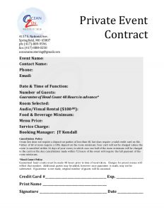 phone message template private event contract