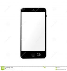 phone message template simple template smartphone empty touchscreen black isolated white background