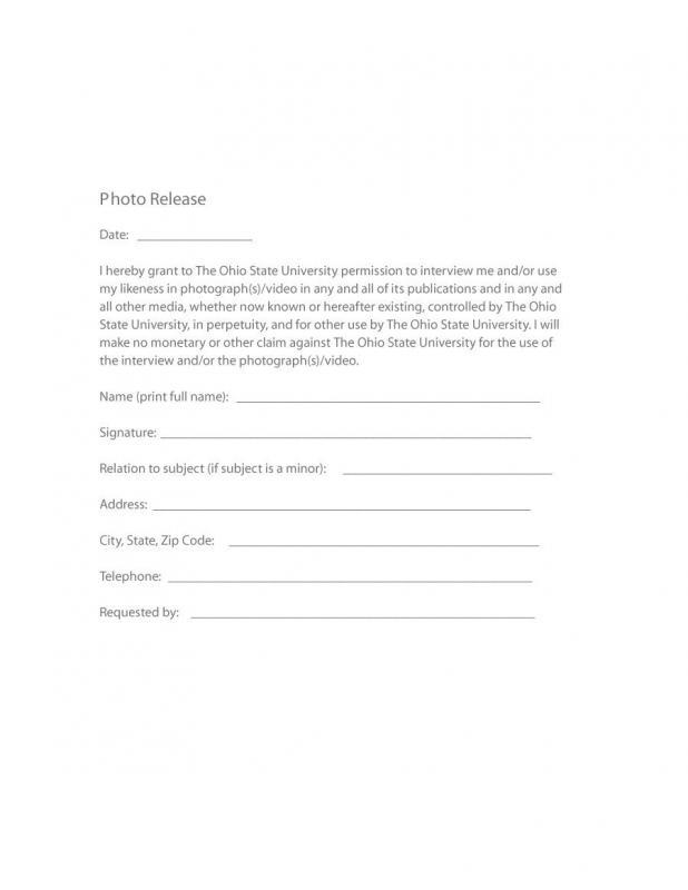 photo release form pdf