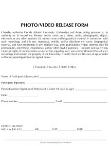 photo release form pdf photo release form