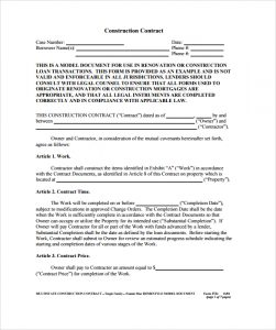 photography contract pdf construction contract example