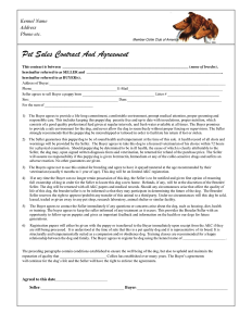 photography contract pdf puppy sales contract