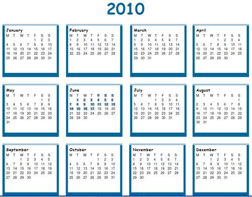 photoshop calendar template