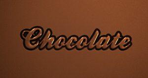 photoshop logo templates psd chocolate text effect type font caracter caligraphic d