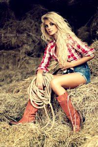 photoshop poster templates seductive cow girl potrait