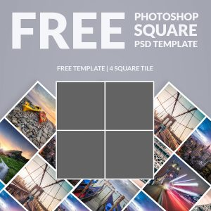 picture collage template free photoshop template photo collage square