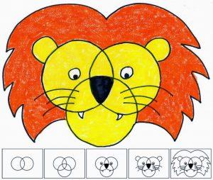 picture collage template lion diagram copy x