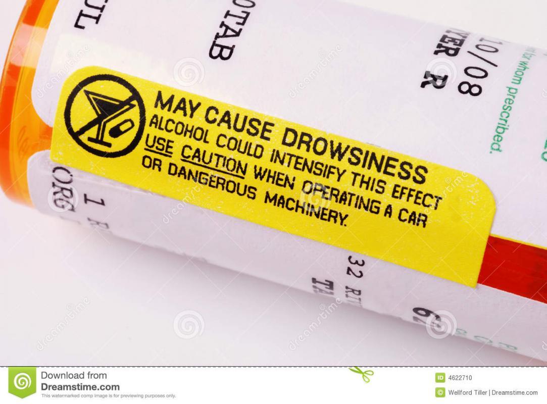 pill bottle label