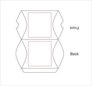 pillow box template pillow box template example