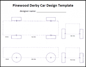 pinewood derby cars designs templates pinewood derby car template icon