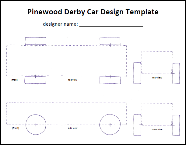 pinewood derby cars designs templates