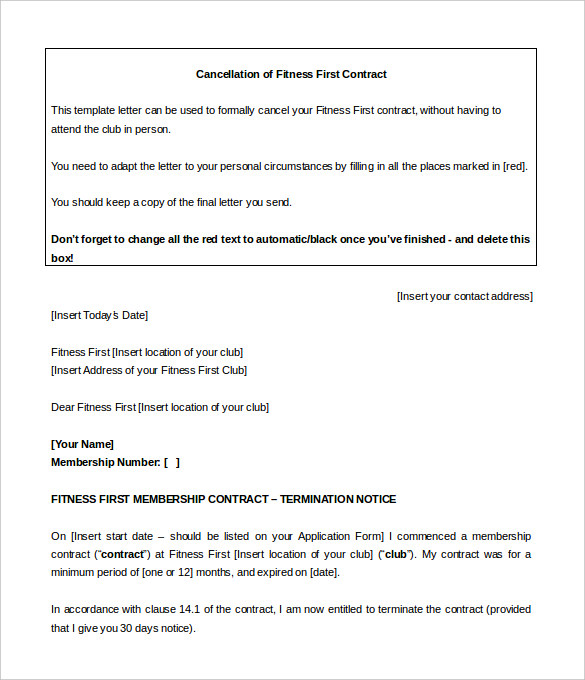Planet Fitness Cancellation Form Pdf | Template Business