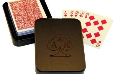 playing card box custom wooden playing card box dark wood
