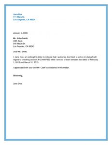 police report sample best authorization letter samples and formats inside authority letter sample