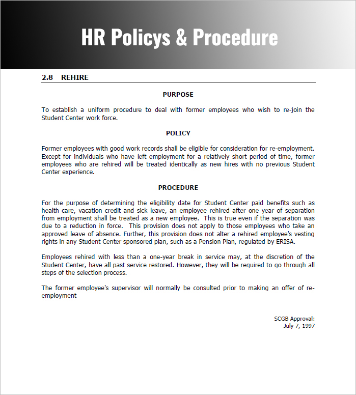 Policies And Procedures Template Template Business border=