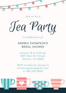 pool party invitation template canva patterned teacups tea party invitation mabplbszw