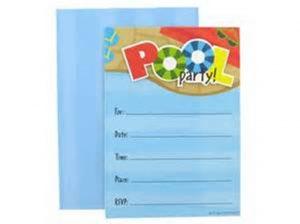 pool party invitation templates free printable pool party invitations